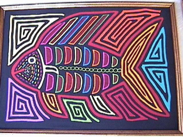 Mola from Kuna Yala, Panama